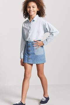 Forever 21 Girls Button-Front Shirt (Kids)