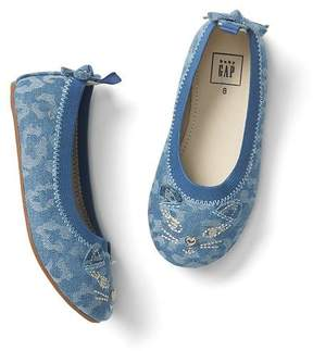 Gap Cheetah cat ballet flats