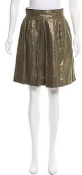 Apiece Apart Metallic Knee-Length Skirt