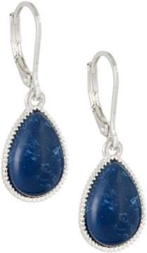 Nine West Denim Blue Teardrop Earrings One Size Blue/silver tone