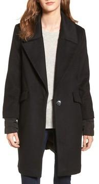 Calvin Klein Women's Wool & Down Reefer Coat