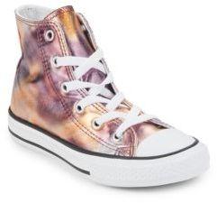 Converse Girl's Seasonal Metallic Youth Chuck Taylor All Star Hi-Top Sneakers