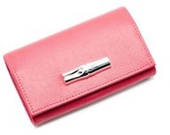Longchamp Women's Red Leather Roseau Coin Purse. - RED - STYLE