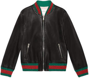 Gucci Children's leather bomber jacket
