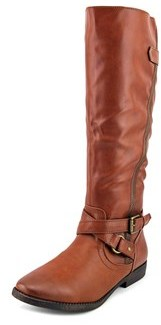 Rampage Iona Women Round Toe Synthetic Brown Knee High Boot.
