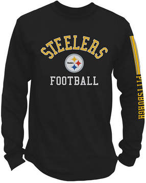 Authentic Nfl Apparel Men's Pittsburgh Steelers Spread Formation Long Sleeve T-Shirt