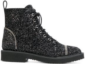 Giuseppe Zanotti Design glitter lace-up boots