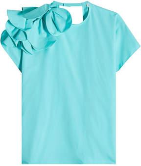 DELPOZO Cotton Top with Petals