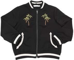 Stella McCartney Skater Embroidered Satin Bomber Jacket