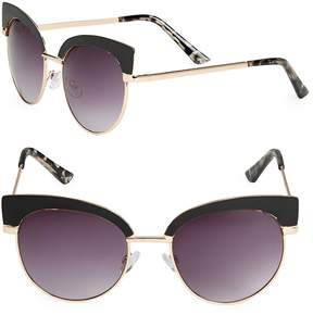 Fantas-Eyes FANTAS EYES Women's Round 51MM Clubmaster Sunglasses