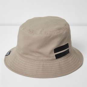 River Island Mens Stone sporty bucket hat