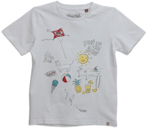 Sovereign Code Skip Day Short-Sleeve Tee, White, Size 4-6x