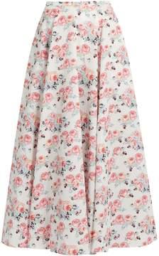 Emilia Wickstead Eleanor floral-print midi skirt