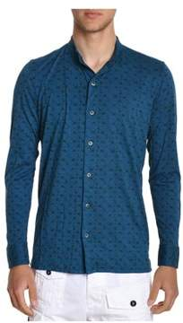 H953 Men's Blue Cotton Shirt.