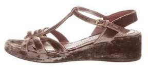 Marc Jacobs Velvet Platform Sandals