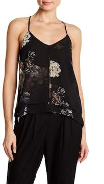 Dex Floral Print Double Layered Tank