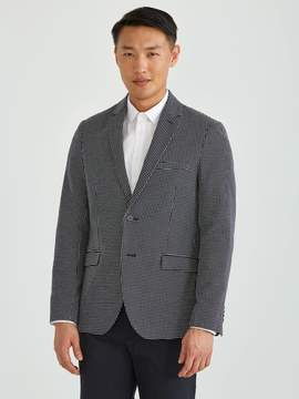 Frank and Oak Textured Weave Blazer in Navy