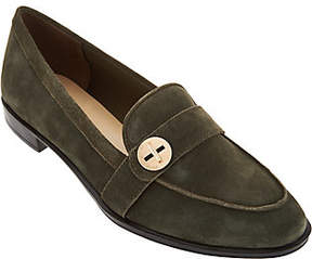 Isaac Mizrahi Live! Suede Loafers with TurnLock Detail