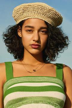 Urban Outfitters Straw Beret