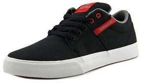 Supra Stacks Vulc Ii Youth Round Toe Canvas Black Skate Shoe.