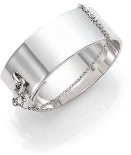 Eddie Borgo Safety Chain Cuff Bracelet/Silvertone