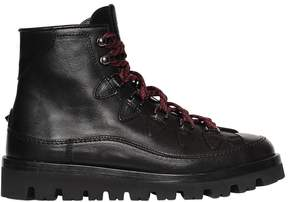 Valentino Leather Hiking Boots