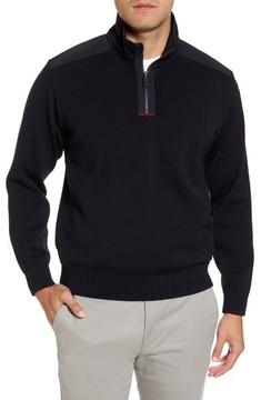 Paul & Shark Men's Bretagne Quarter Zip Wool Sweater