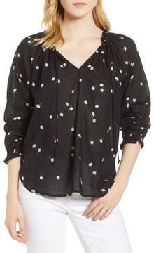 Velvet by Graham & Spencer Print Gauze Blouse