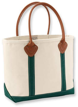 L.L. Bean Leather Handle Boat and Tote
