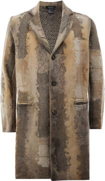 Avant Toi destroyed effect midi coat