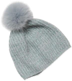 Portolano Women's Fox Fur Pom Hat