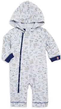 Absorba Boys' Animal Print Hooded Coverall - Baby