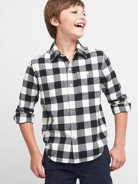 Gap Buffalo plaid flannel long sleeve shirt