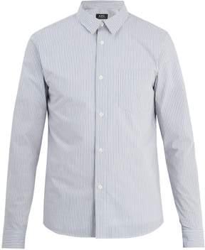 A.P.C. Franklin point-collar striped cotton shirt