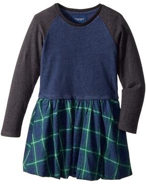 Toobydoo Flannel Skirt Dress Girl's Dress