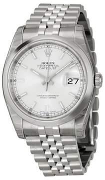 Rolex Datejust 116200SSJ Stainless Steel & Silver Index Dial 36mm Mens Watch