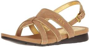 Lauren Ralph Lauren LAUREN by Ralph Lauren Womens Lindsay Suede Open Toe Casual Strappy Sandals