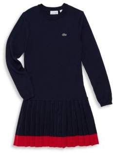 Lacoste Toddler's, Little Girl's & Girl's Pleat-Hem Drop-Waist Dress