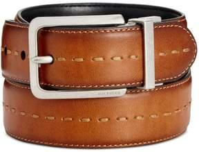Tommy Hilfiger Mens Faux Leather Belt Brown 44