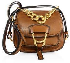 Miu Miu Dahlia Small Madras Leather Saddle Bag