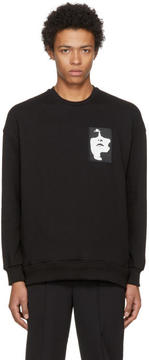 Neil Barrett Black Face Patch Sweatshirt