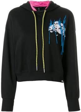 Diesel embroidered cropped hoodie