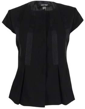 Nine West Women's Ribbon-Laced Short-Sleeve Blazer 4, Black