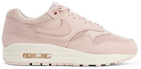 Nike Air Max 1 Pinnacle Perforated Faux Nubuck Sneakers - Pastel pink