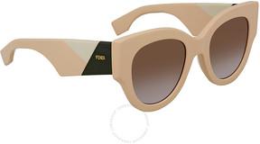 Fendi Smoky Gray Gradient Cat Eye Ladies Sunglasses FF 0264/S 35J/QR