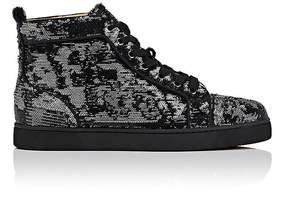 Christian Louboutin Men's Louis Orlato Flat Paillette Sneakers