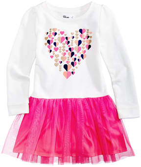 Epic Threads Long-Sleeve Heart-Print Tutu Dress, Toddler Girls (2T-5T), Created for Macy's