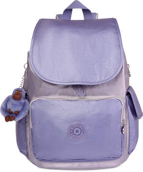 Kipling City Pack Metallic Backpack - GOLD COMBO/SILVER - STYLE