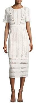 BA&SH Gareth Cotton Lace Midi Dress, Ecru