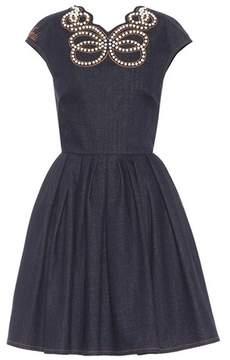 Fendi Embellished denim dress